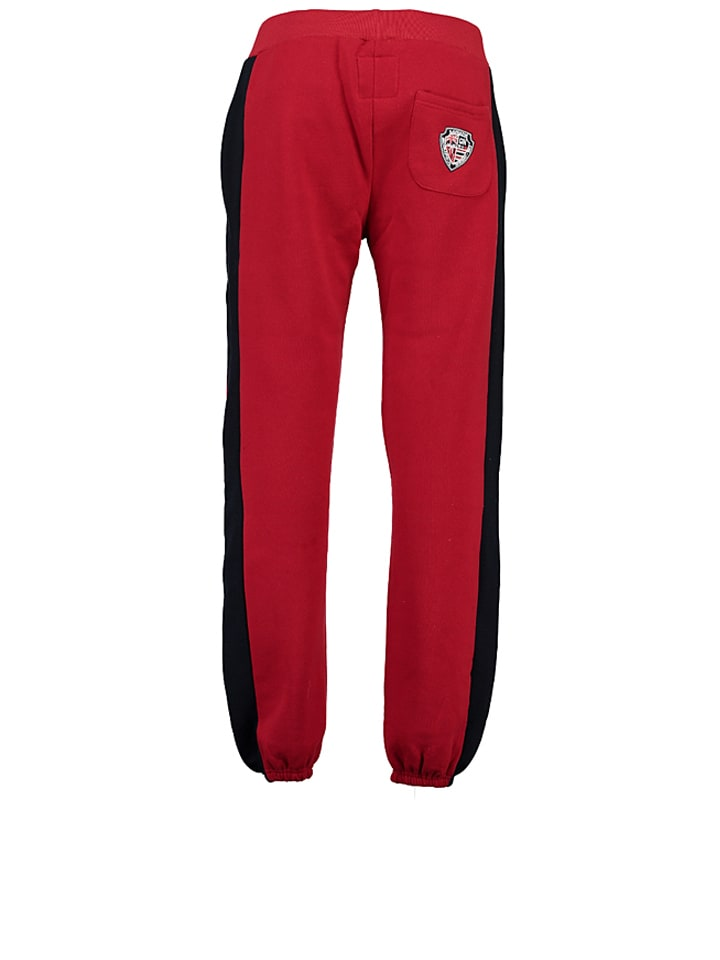 "Geographical Norway Sweathose ""Mapping"" in Rot"