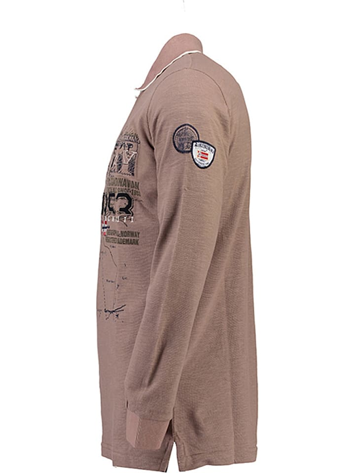 "Geographical Norway Poloshirt ""Kagatel"" in Taupe"