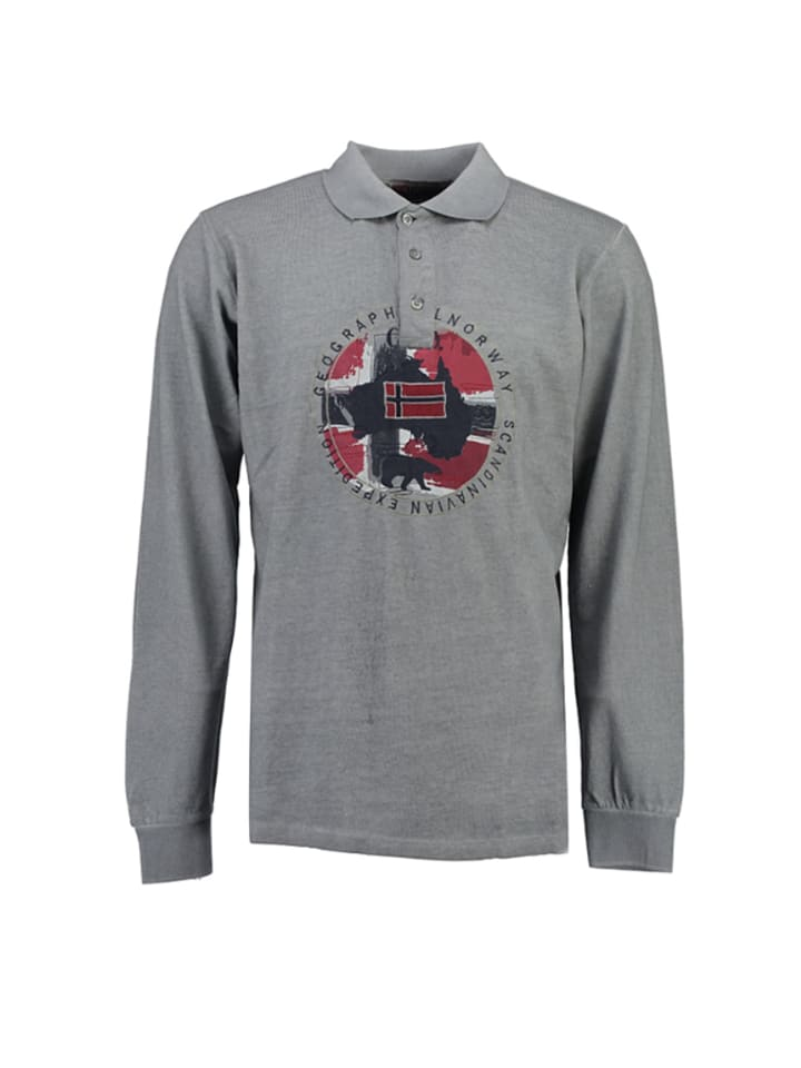 Geographical Norway Poloshirt Kexpedition in Grau