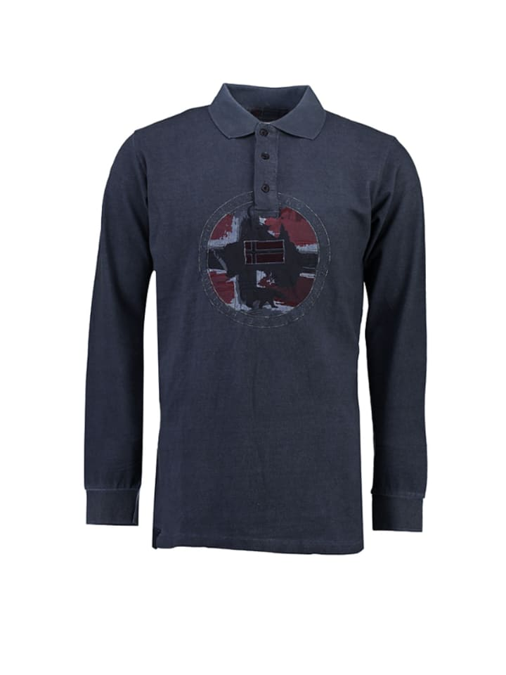 "Geographical Norway Poloshirt ""Kexpedition"" in Dunkelblau"