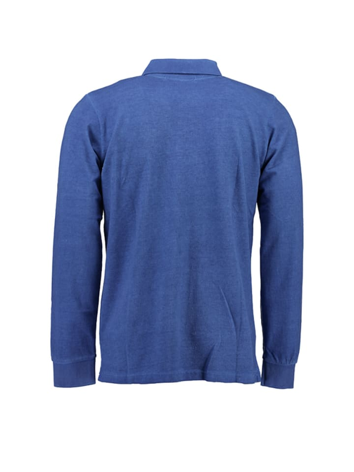 """Geographical Norway Poloshirt """"Kexpedition"""" in Blau"""