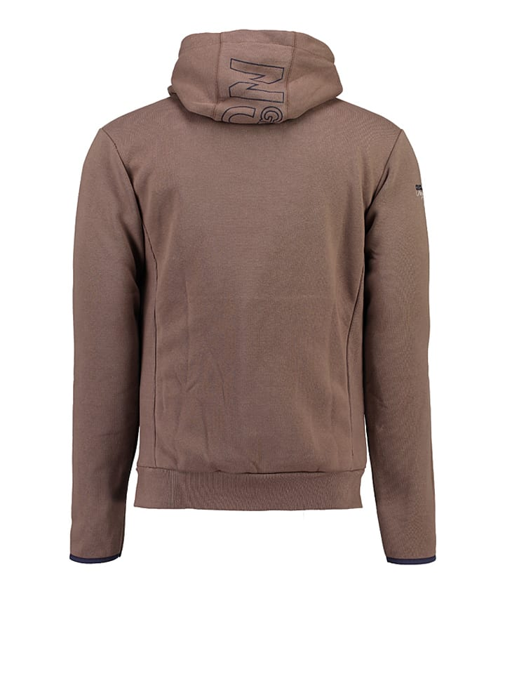 """Geographical Norway Sweatjacke """"Gayroll"""" in Taupe"""