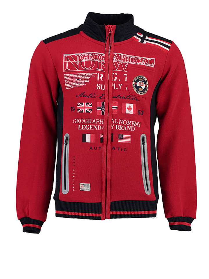 "Geographical Norway Sweatjacke ""Gerinos"" in Rot"