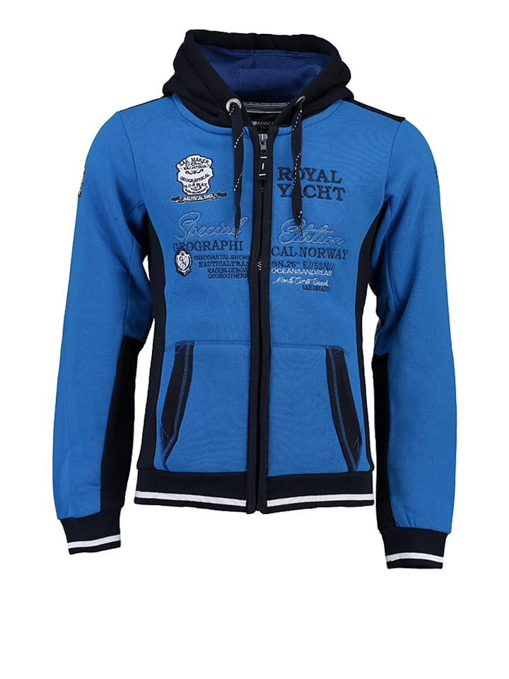 "Geographical Norway Sweatjacke ""Gersozon"" in Blau"