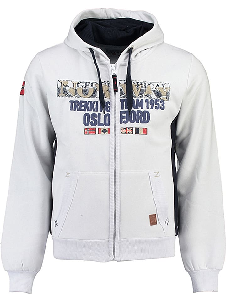 "Geographical Norway Sweatjacke ""Gopervik"" in Weiß"