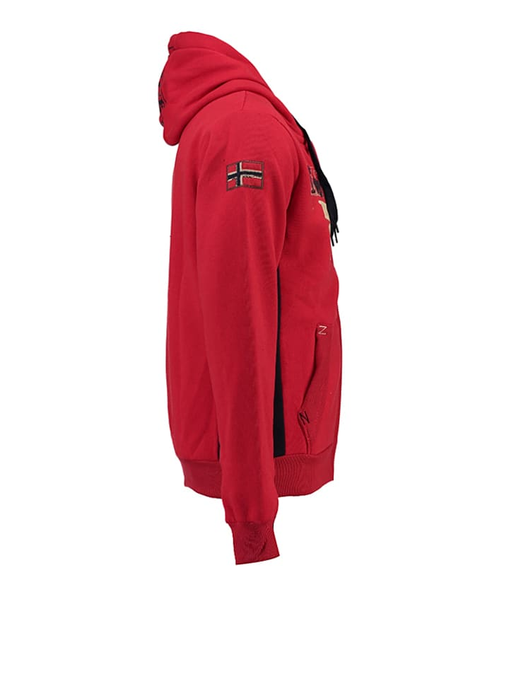 """Geographical Norway Sweatjacke """"Gopervik"""" in Rot"""