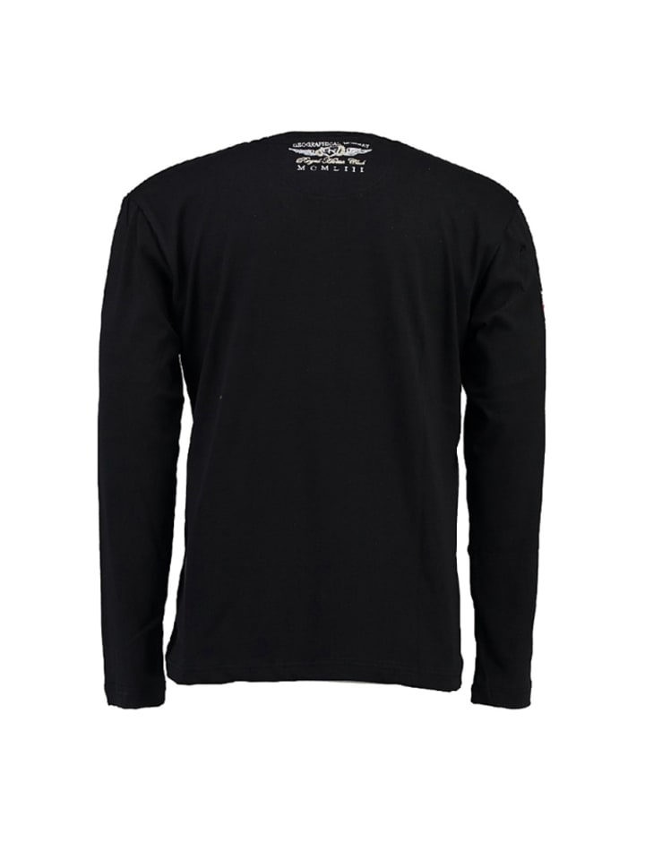 "Geographical Norway Longsleeve ""Jacroche"" in Schwarz"