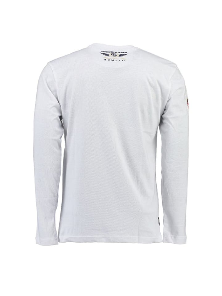 "Geographical Norway Longsleeve ""Jacroche"" in Weiß"