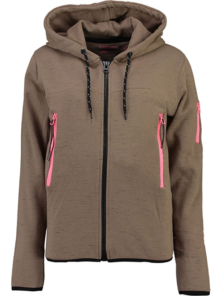 "Geographical Norway Sweatjacke ""Fashionista"" in Taupe"