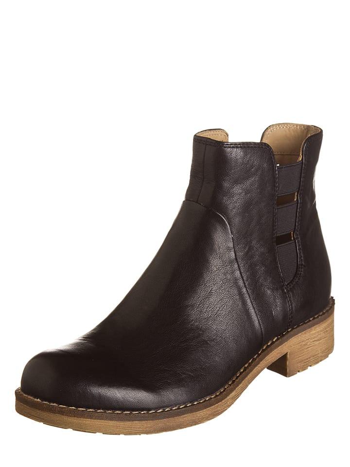 "Geox Leder-Boots ""New Virna D"" in Schwarz"