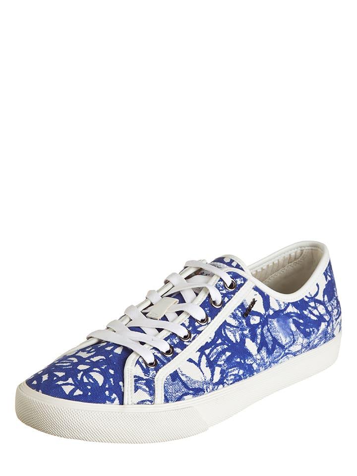 "Geox Sneakers ""Smart V A"" in Blau/ Weiß"