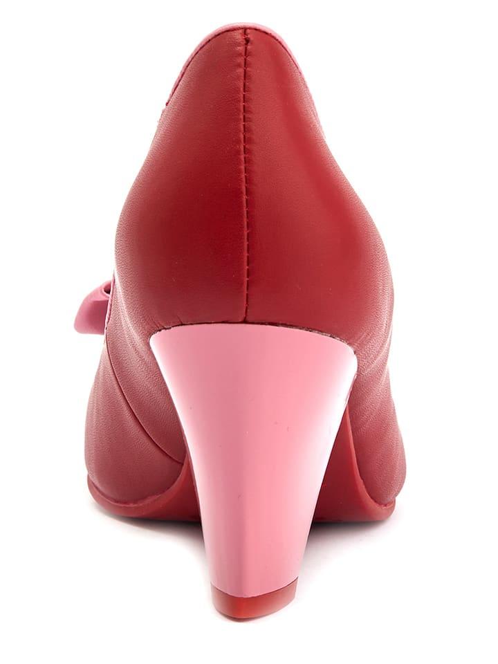 Lola Ramona Pumps in Rot/ Rosa