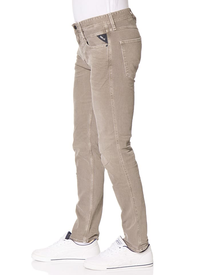 "Replay Jeans ""Anbass"" -Slim fit- in Taupe"