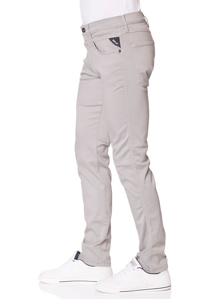 """Replay Jeans """"Anbass"""" -Slim fit- in Hellgrau"""