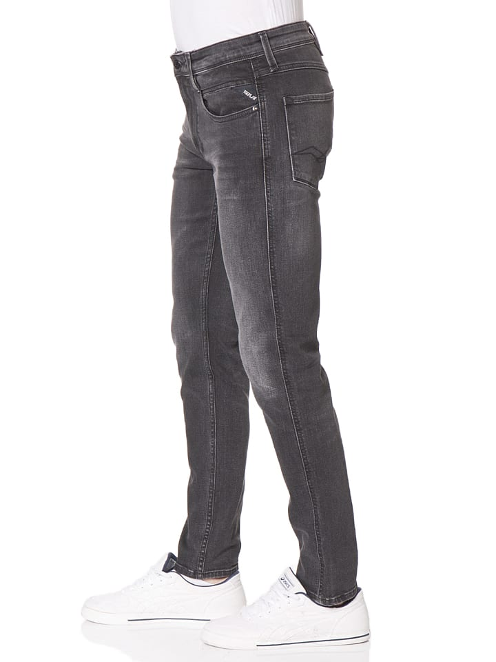 "Replay Jeans ""Anbass"" -Slim fit- in Schwarz"