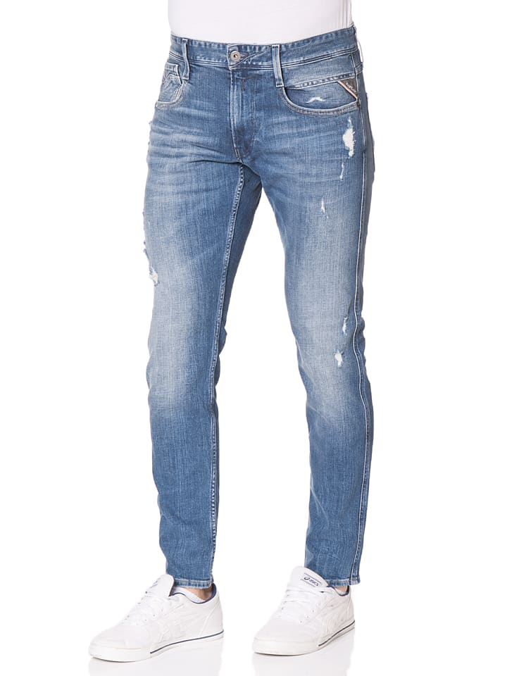 """Replay Jeans """"Anbass"""" -Slim fit- in Blau"""