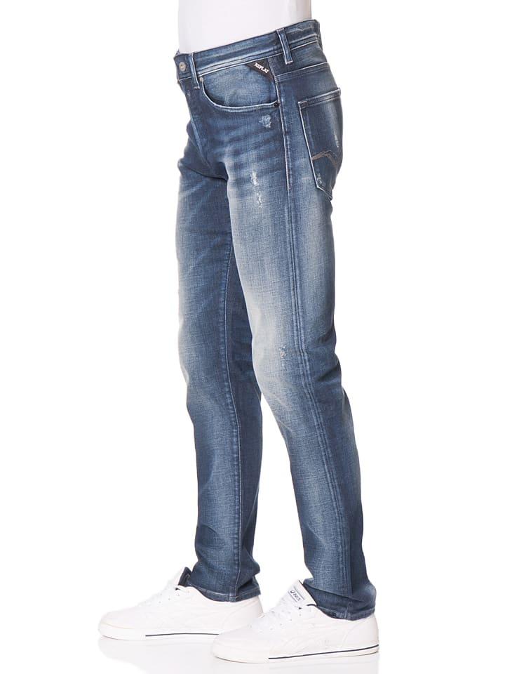 """Replay Jeans """"RBJ"""" -Regular fit- in Dunkelblau"""