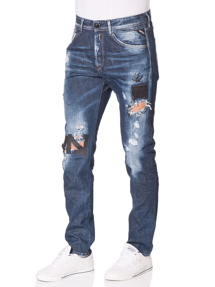 "Replay Jeans ""Ezhir"" -Low Crotch- in Dunkelblau"