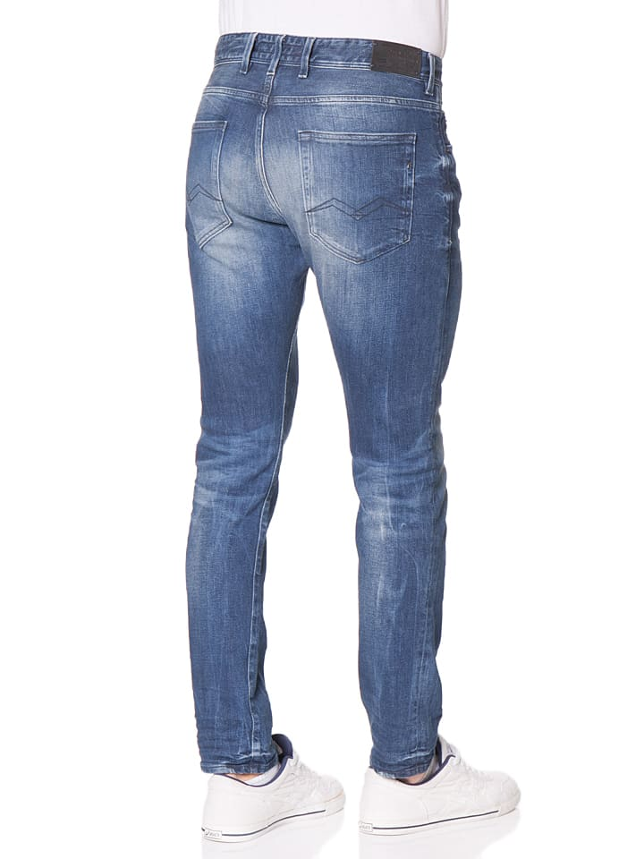 "Replay Jeans ""Ezhir"" -Low Crotch- in Blau"