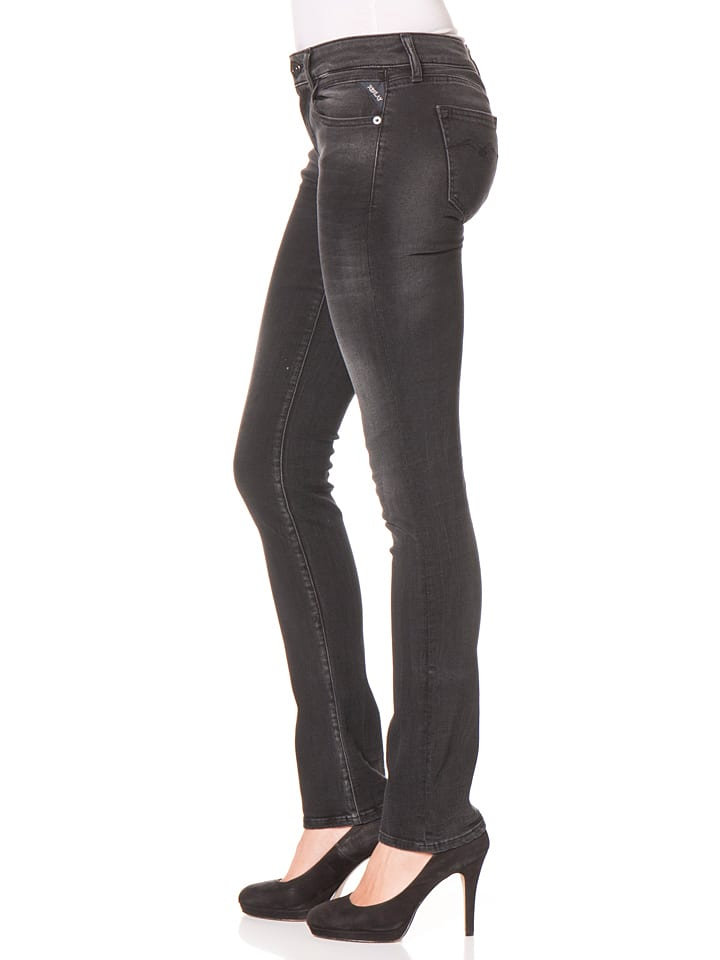 """Replay Jeans """"Vicki"""" -Straight fit- in Schwarz"""