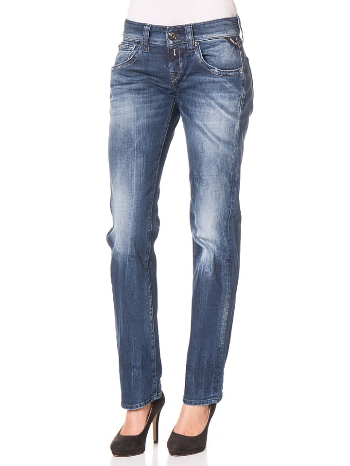 """Replay Jeans """"Newswenfani"""" -Relaxed fit- in Blau"""