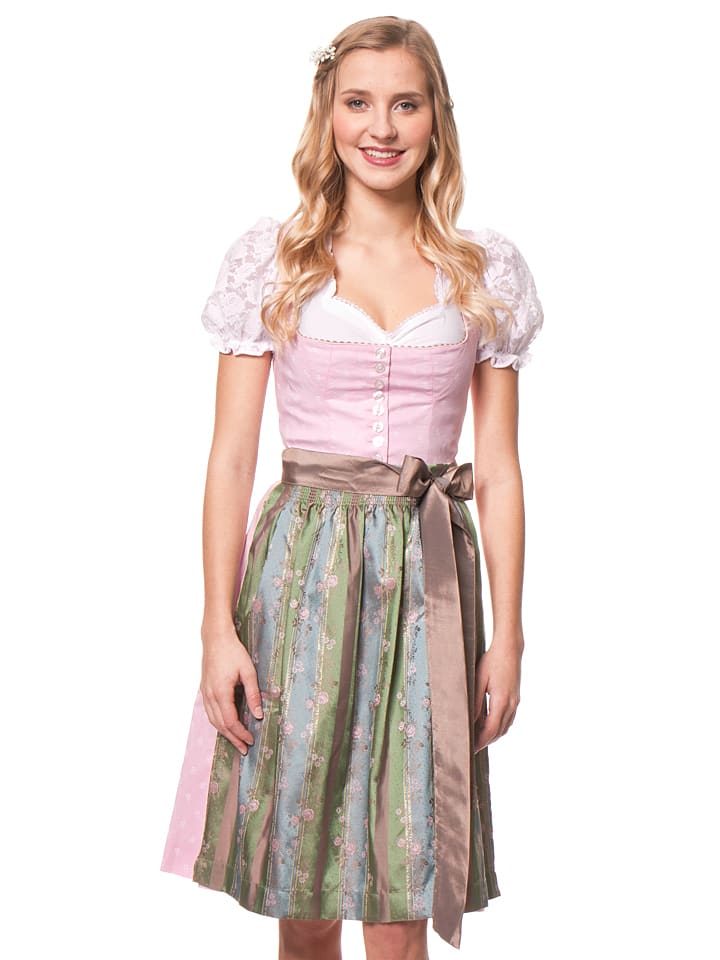 turi landhaus midi dirndl martina in rosa taupe gr n. Black Bedroom Furniture Sets. Home Design Ideas