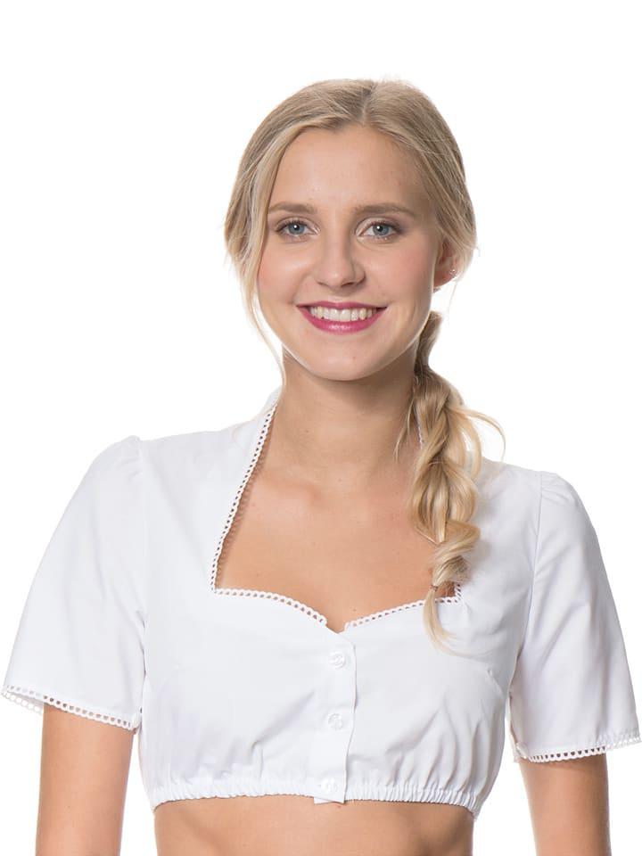 """Turi Landhaus Dirndlbluse """"Lisa"""" in Weiß"""