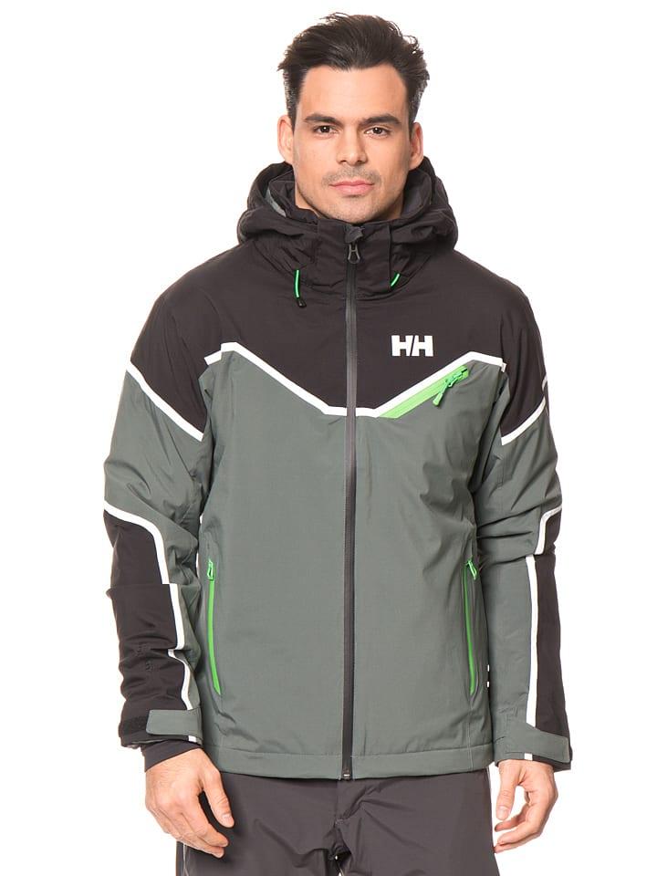 Helly Hansen Ski-/ Snowboardjacke in Oliv/ Schwarz