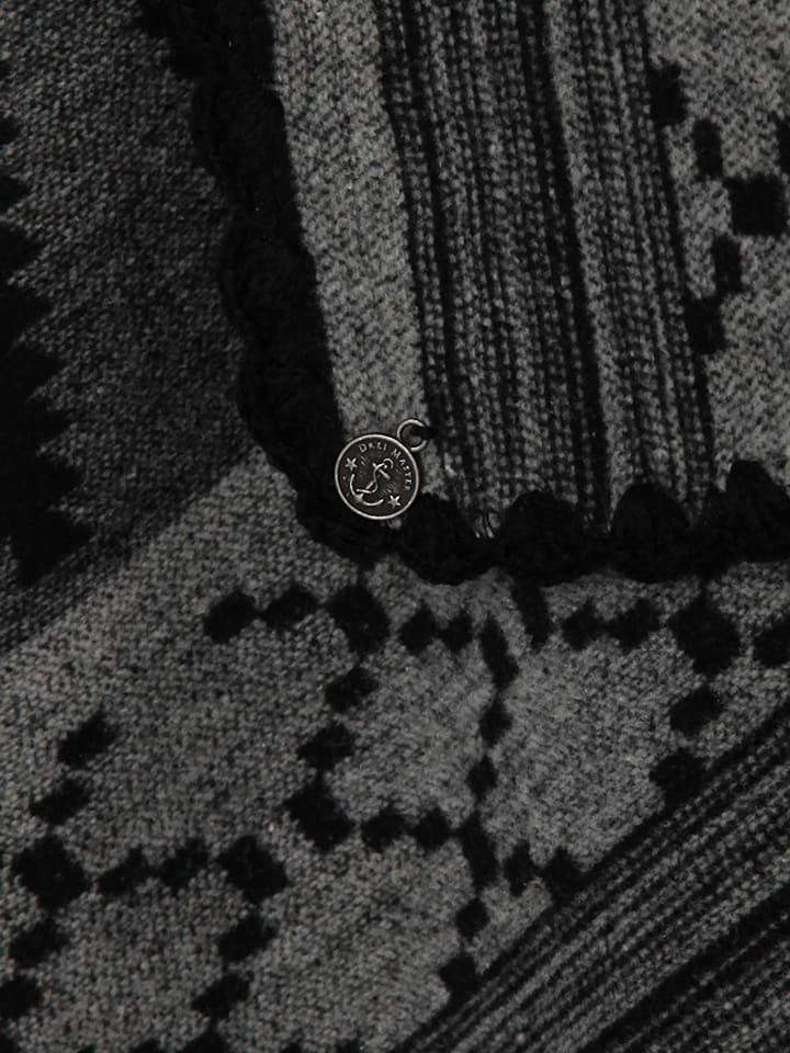 DreiMaster Poncho in Schwarz/ Grau