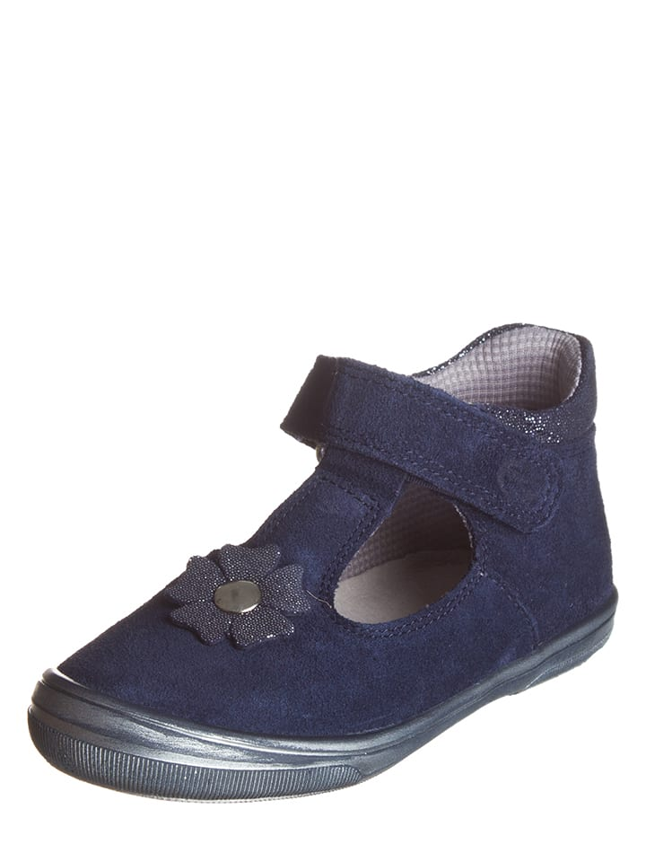 Richter Shoes Leren ballerina's donkerblauw