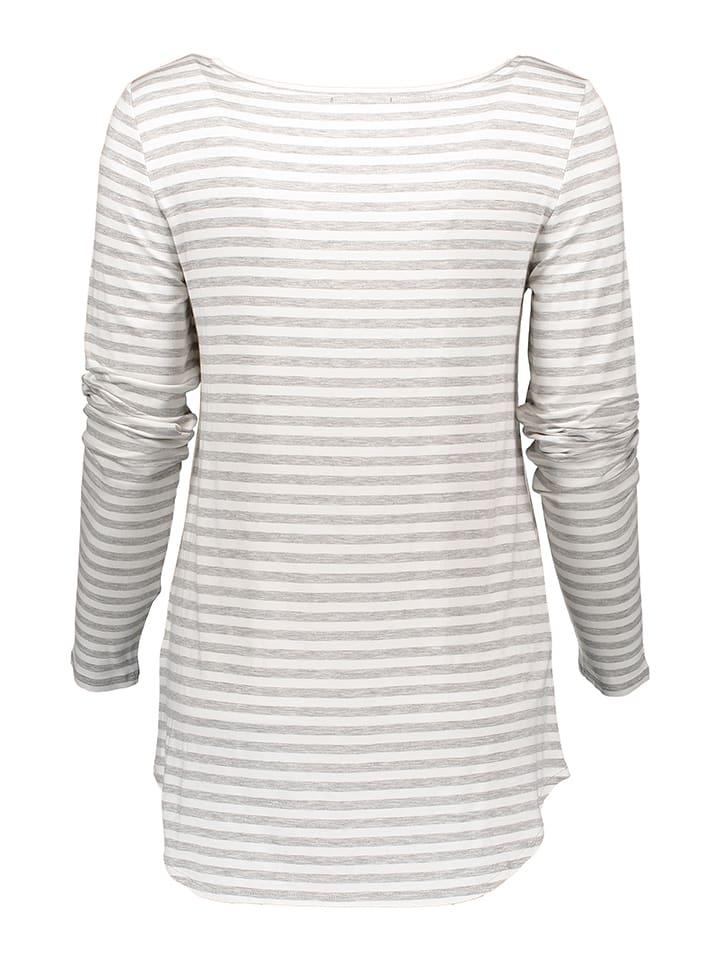 Marc O'Polo Shirt in Weiß/ Grau