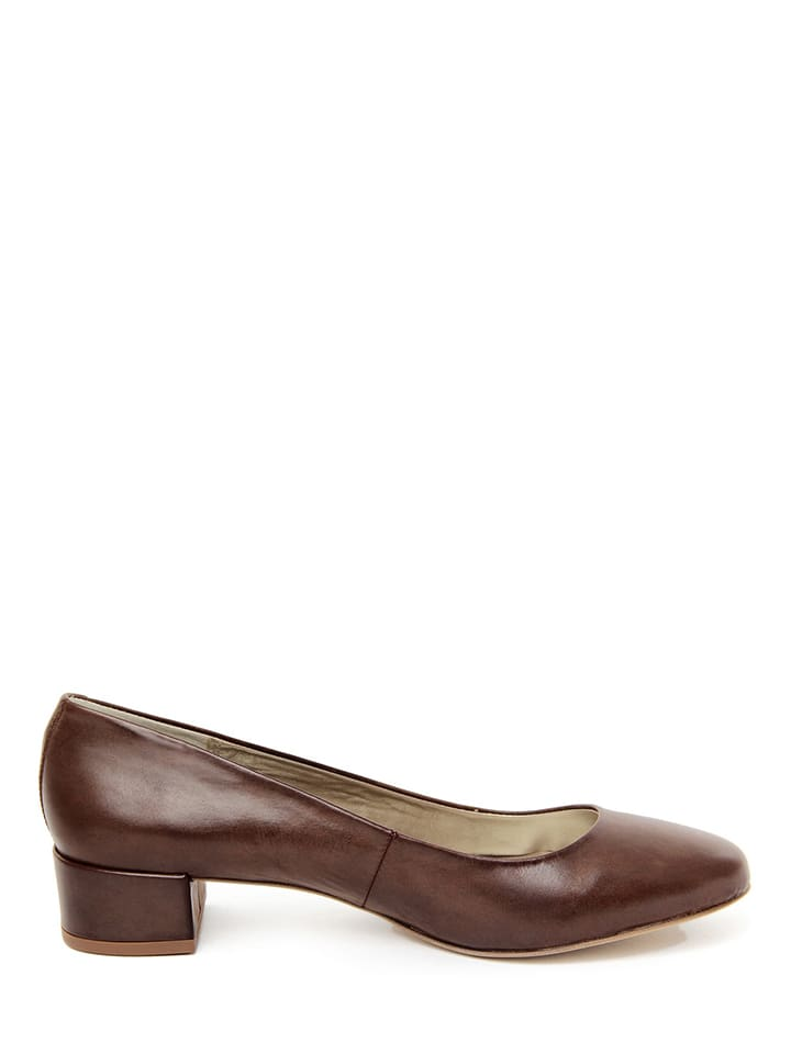 EYE Leder-Pumps in Braun