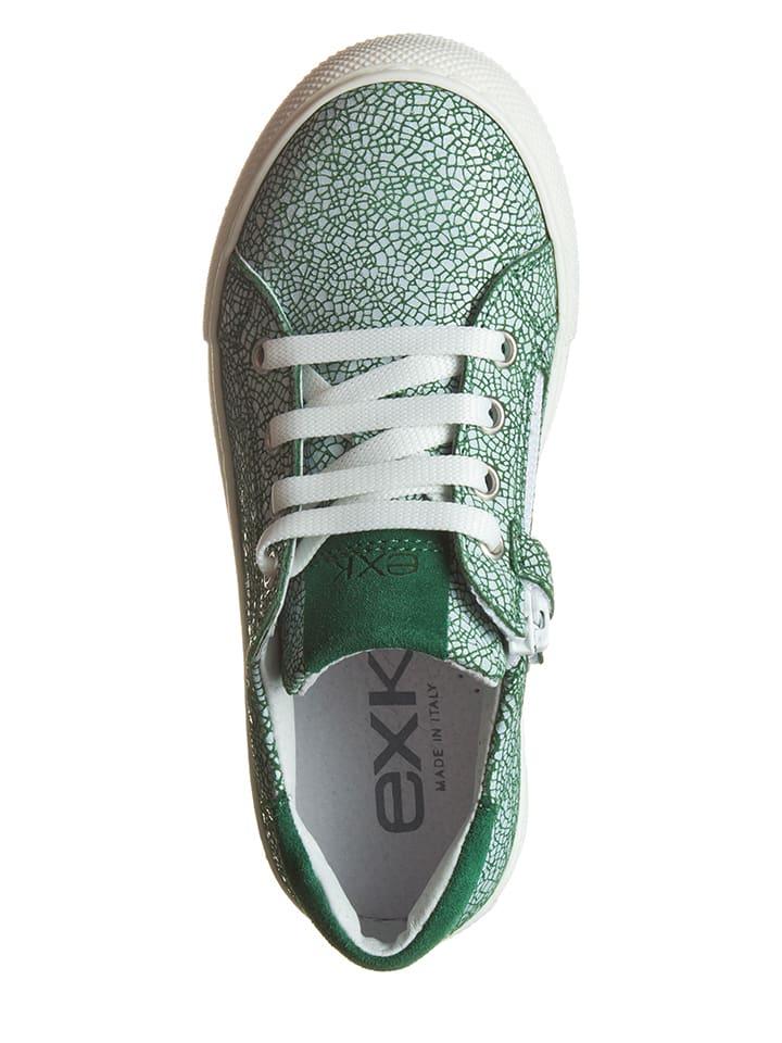 EXK Leder-Sneakers in Grün