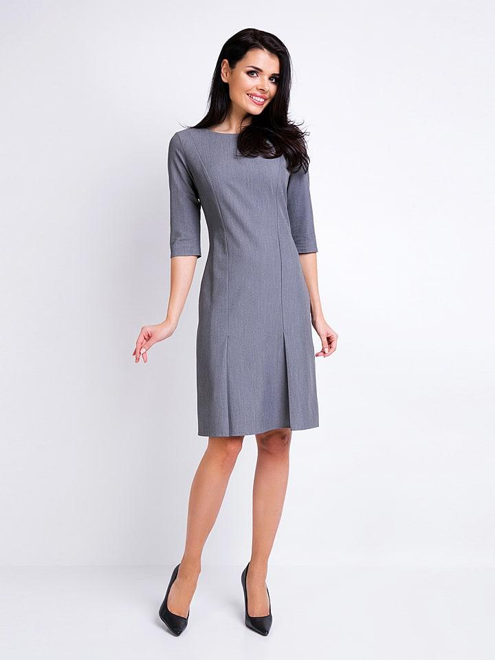 Awama Kleid in Grau