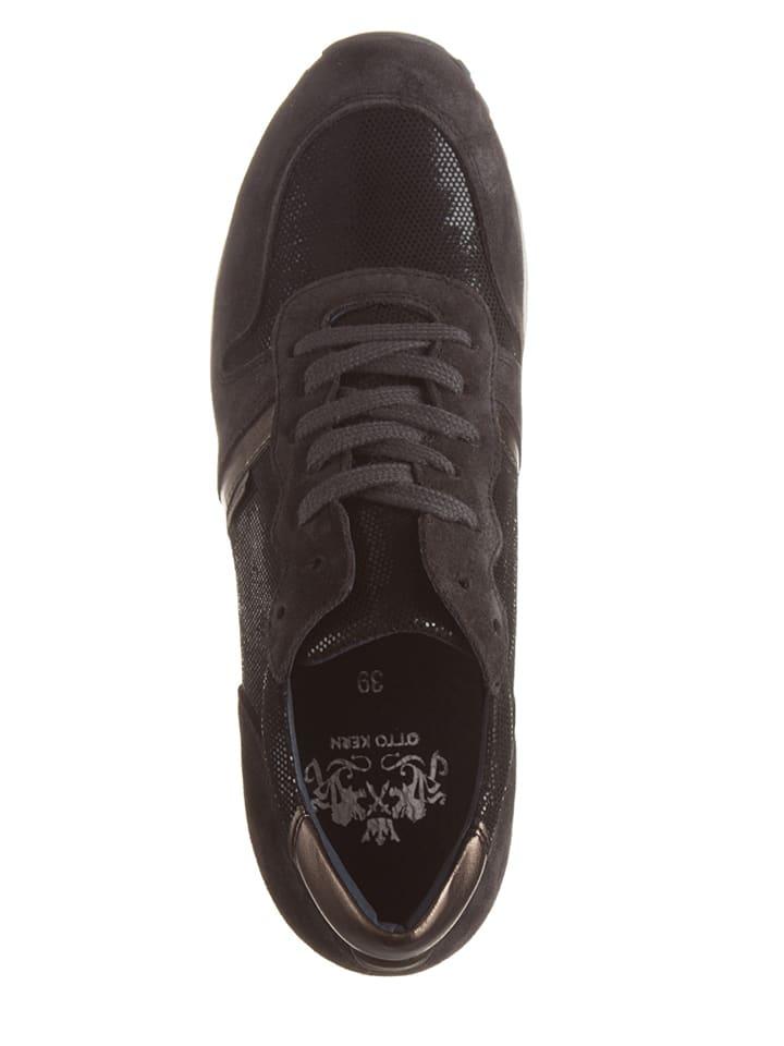 Otto Kern Leder-Sneakers in Anthrazit