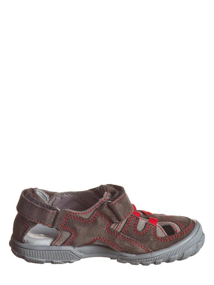 Richter Shoes Leder-Halbsandalen in Taupe - 61% z5gtv