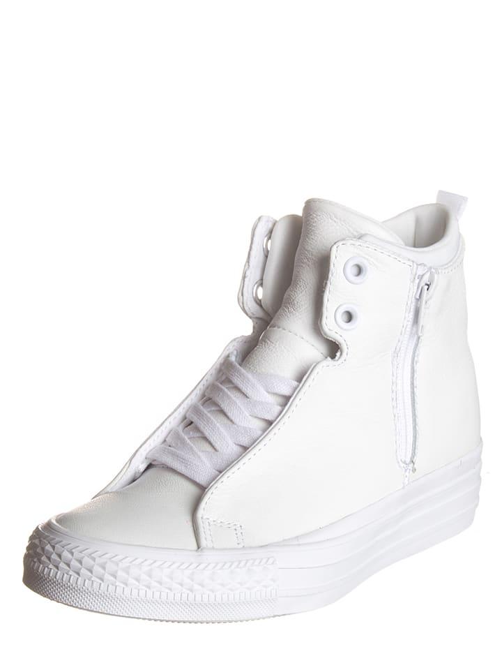 Converse Leder-Sneakers in Weiß
