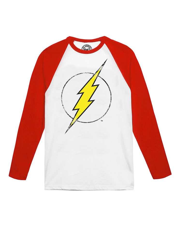 "DC Comics Longsleeve ""Flash"" in Weiß/ Rot"