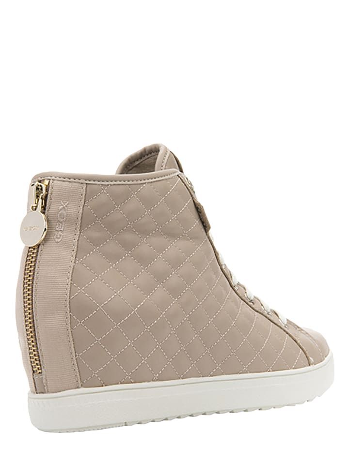 "Geox Leder-Sneakers ""Amaranth High""  in Beige"
