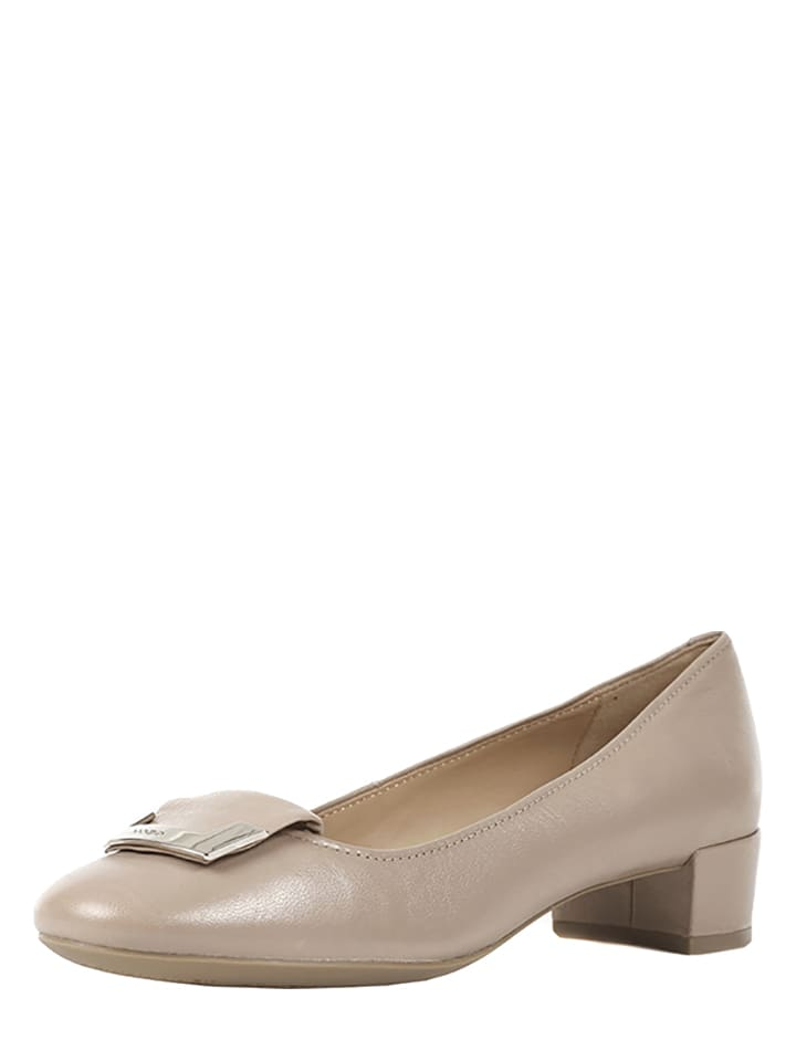 "Geox Leder-Pumps ""Carey A"" in Beige"