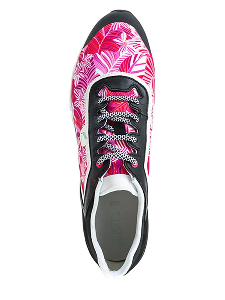 """Geox Turnschuhe """"Sukie B"""" in Schwarz/ Pink"""
