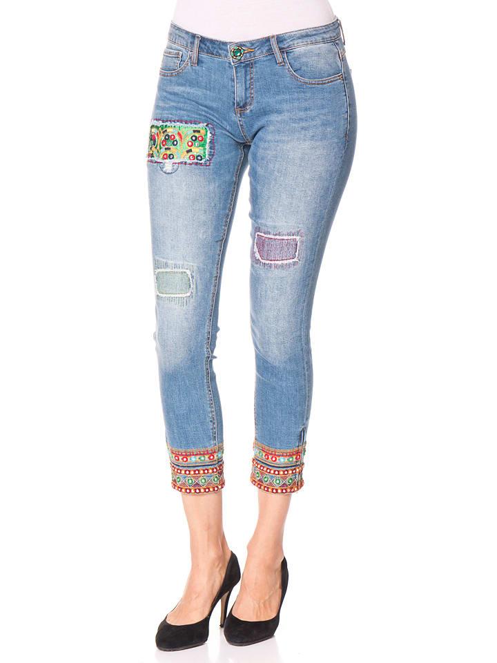 "Desigual Jeans ""Ethnic"" in Hellblau"