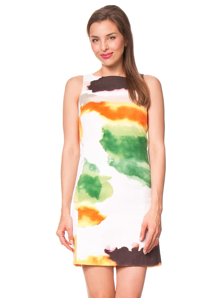 Desigual Kleid Nilina in Weiß/ Bunt
