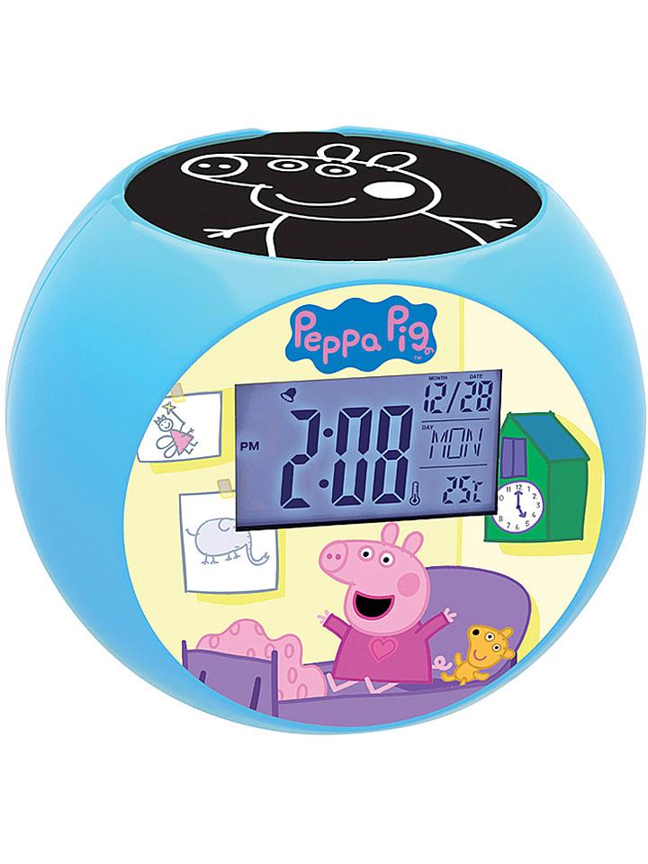 """Lexibook Radiowecker """"Peppa Pig Projector"""" in Hellblau/ Bunt"""