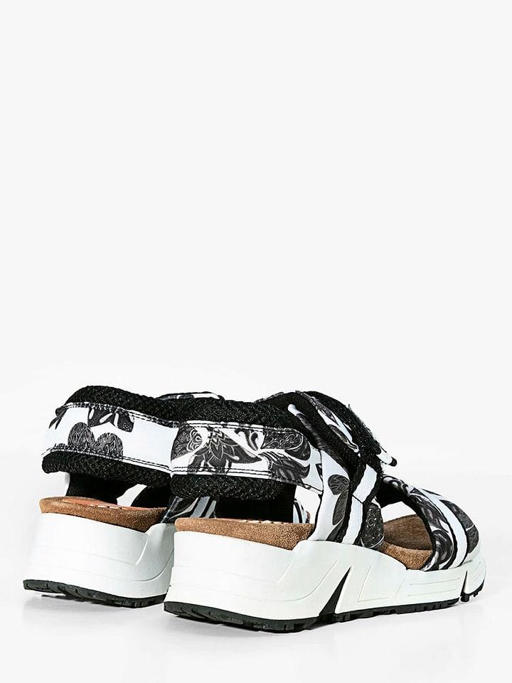 Desigual Sandaletten in Weiß/ Schwarz