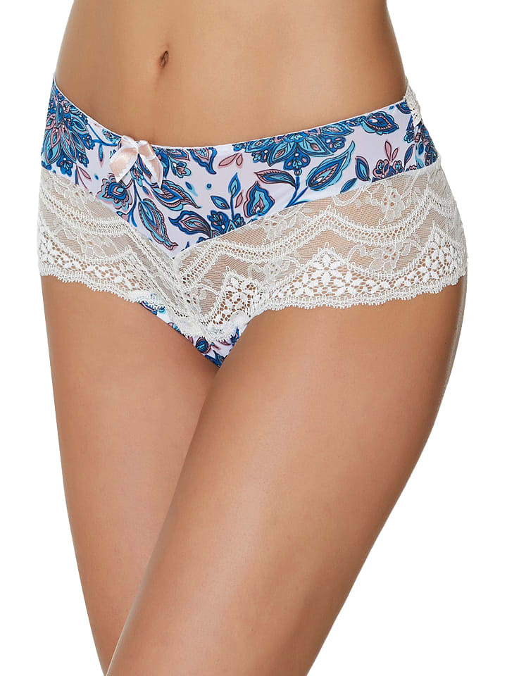 "Aubade Panty ""Conte Russe"" in Creme/ Blau"