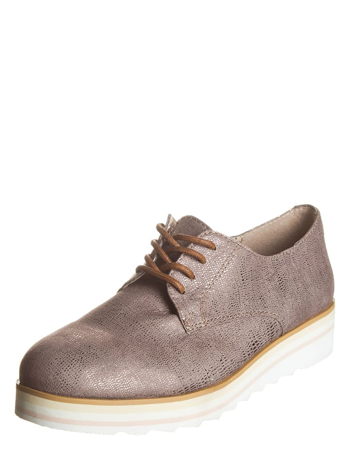 Tom Tailor Chaussures à lacets - taupe