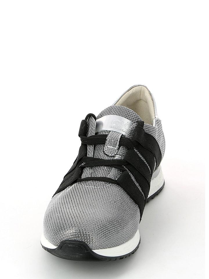 Grünland Sneakers in Silber/ Schwarz