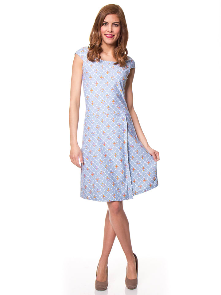 Bakery Ladies Kleid in Hellblau/ Bunt