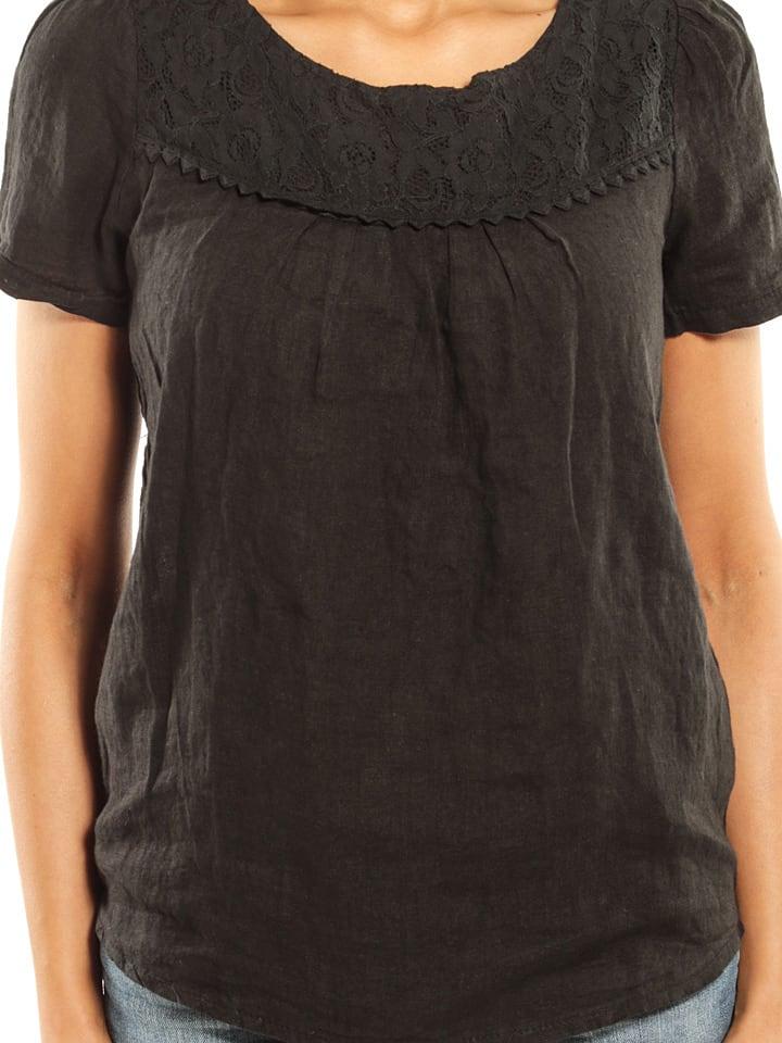 """Maison du Lin Leinen-Shirt """"Geneve"""" in Schwarz"""